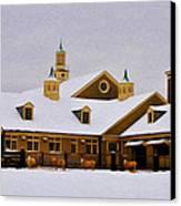 Snowy Day At Erdenheim Farm Canvas Print