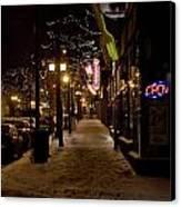 Snowy Downtown Canvas Print