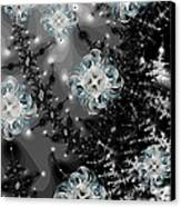 Snowy Night IIi Fractal Canvas Print by Betsy Knapp