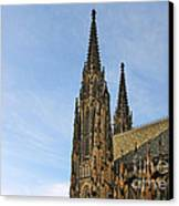 Soaring Spires Saint Vitus' Cathedral Prague Canvas Print by Christine Till