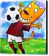 Soccer Cat 3 Canvas Print by Scott Nelson