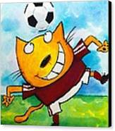 Soccer Cat 4 Canvas Print