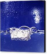 Sodium Reacting With Water Canvas Print by Andrew Lambert Photography