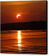 Solar Eclipse 2012 - Fort Worth Texas Canvas Print