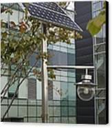 Solar-powered Street Light In Daejeon Canvas Print by Mark Williamson