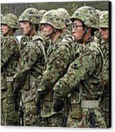 Soldiers From The Japan Ground Self Canvas Print by Stocktrek Images