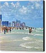 South Beach Canvas Print by Dieter  Lesche