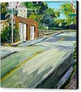 South Main Street Train Crossing Canvas Print by Scott Nelson