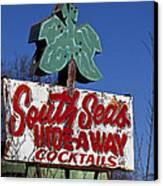 South Seas Sign Canvas Print