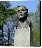 Soviet Monument To Yuri Gagarin Canvas Print by Detlev Van Ravenswaay