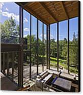 Spacious Living Room With A View Canvas Print