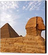 Sphinx Of Giza Canvas Print by Jane Rix