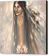Spirit Woman Canvas Print by Charles B Mitchell