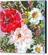 Splashy Flowers Canvas Print