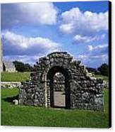 St Brigids Church, Inis Cealtra Holy Canvas Print by The Irish Image Collection