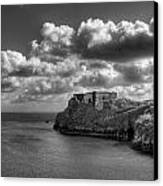 St Catherines Rock Tenby Canvas Print by Steve Purnell