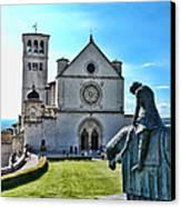 St Francis Basilica   Assisi Italy Canvas Print