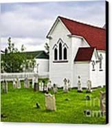 St. Luke's Church In Placentia Newfoundland Canvas Print by Elena Elisseeva