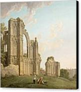 St Mary's Abbey -york Canvas Print by Michael Rooker