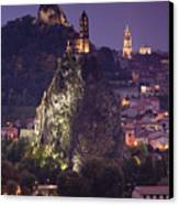 St-michel D'aiguilhe And Cathedrale Notre-dame Canvas Print by Walter Bibikow