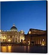 St. Peter's Basilica At Night Canvas Print