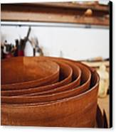 Stack Of Wooden Bowls Canvas Print by Jetta Productions, Inc