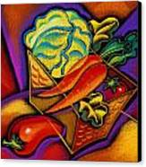 Staff For Yummy Salad Canvas Print