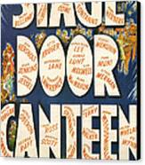 Stage Door Canteen Canvas Print by Georgia Fowler