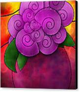 Stained Glass Florals Canvas Print by Melisa Meyers