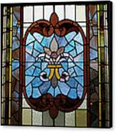 Stained Glass Lc 19 Canvas Print by Thomas Woolworth