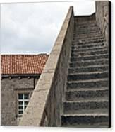 Stairway In Dubrovnik Canvas Print by Madeline Ellis