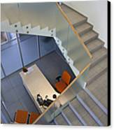 Stairwell In And Office Canvas Print by Jaak Nilson
