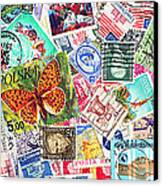 Stamp Collection . 3 To 1 Proportion Canvas Print by Wingsdomain Art and Photography
