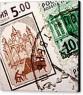 Stamp Collection Canvas Print by Mustafa Otyakmaz
