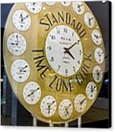 Standard Time Zone Clock. Canvas Print by Mark Williamson