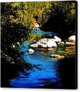 Stanislaus River Canvas Print by Helen Carson