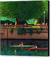 Stanley Park Scullers Poster Canvas Print