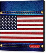 Stars And Stripes Denim Canvas Print by Jane Rix