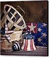 Stars And Stripes Still Life Canvas Print by Tom Mc Nemar