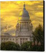 Statehouse At Sunset Canvas Print