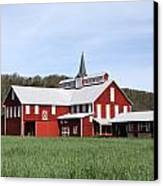 Stately Red Barn With Elongated Clerestory Cupola Canvas Print by John Stephens