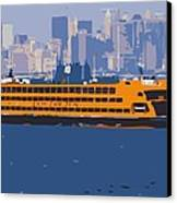 Staten Island Ferry Color 16 Canvas Print
