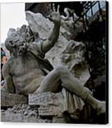 Statue At Piazza Canvas Print by Suhas Tavkar
