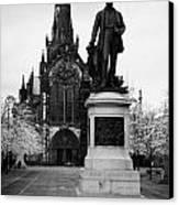 Statue Of David Livingstone Outside Glasgow Cathedral Scotland Uk Canvas Print by Joe Fox