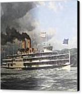 Steamer Alexander Hamilton William G Muller Canvas Print by Jake Hartz