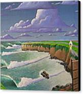 Steamer Lane Canvas Print by Tim Foley