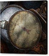 Steampunk - Gauge For Sale Canvas Print by Mike Savad