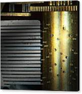 Steampunk - Gears - Music Machine Canvas Print by Mike Savad
