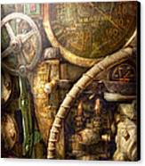 Steampunk - Naval - Watch The Depth Canvas Print by Mike Savad