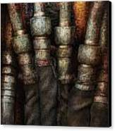 Steampunk - Pipes Canvas Print by Mike Savad